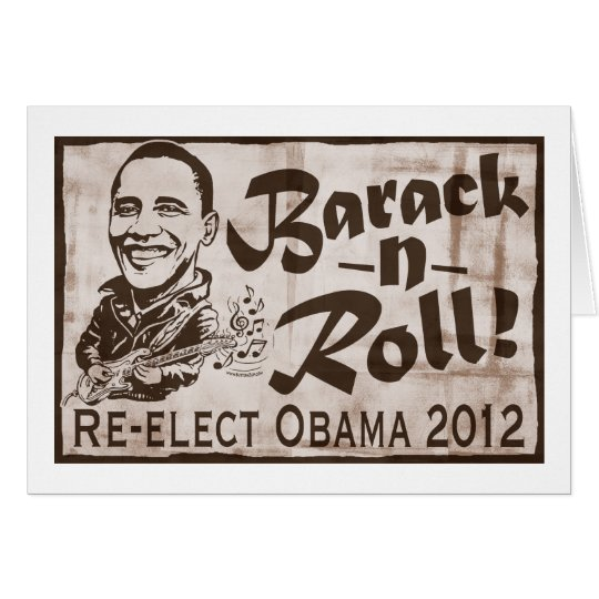 Barack and Roll Obama 2012 Gear Card