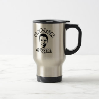 Barack and Roll -.png 15 Oz Stainless Steel Travel Mug