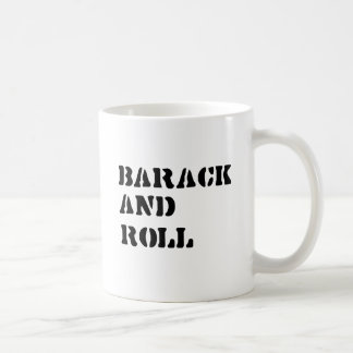 BARACK AND ROLL - -.png Classic White Coffee Mug