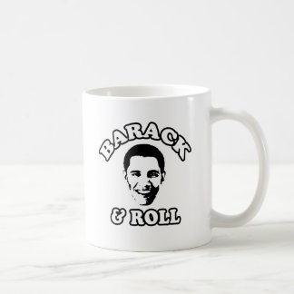 BARACK AND ROLL -.png Classic White Coffee Mug