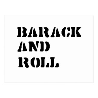 Barack and Roll Postcard
