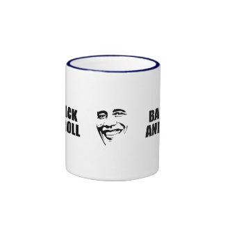 BARACK AND ROLL RINGER COFFEE MUG