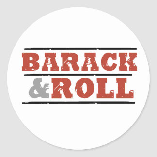 Barack and Roll Round Stickers