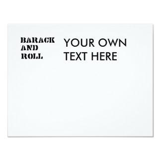 Barack and Roll T-shirt 4.25x5.5 Paper Invitation Card