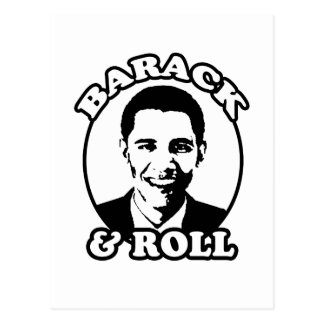 """""""Barack and Roll"""" T-shirts and gifts Postcard"""