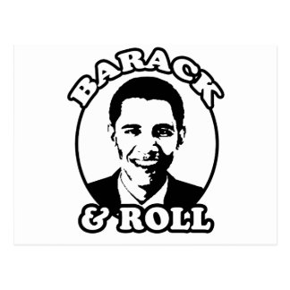 """Barack and Roll"" T-shirts and gifts Post Card"