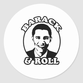 """Barack and Roll"" T-shirts and gifts Sticker"