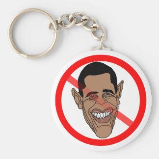 Barack anti Hussein Obama Llavero Redondo Tipo Pin