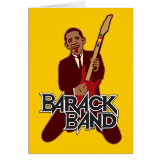 Barack Band Greeting Card