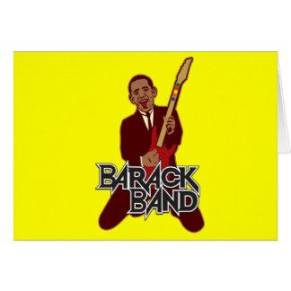 Barack Band Greeting Card