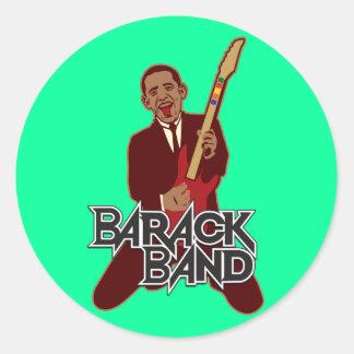 Barack Band Classic Round Sticker