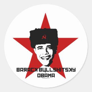 Barack Bullshitsky Obama Stickers