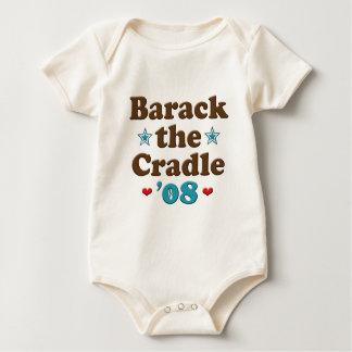 Barack el bebé de Obama de la cuna 08 orgánico Mamelucos