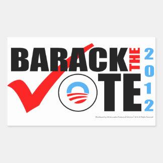 Barack el pegatina del voto con año vertical
