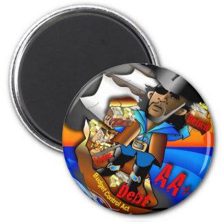 Barack el pirata AA+ Imán Redondo 5 Cm