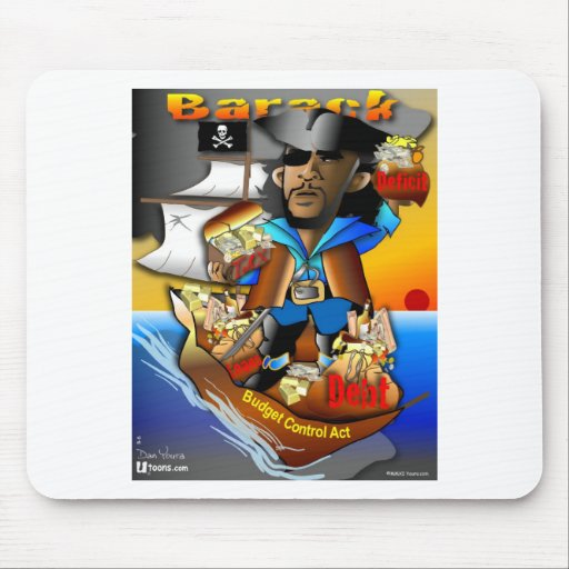 Barack el pirata alfombrilla de ratones