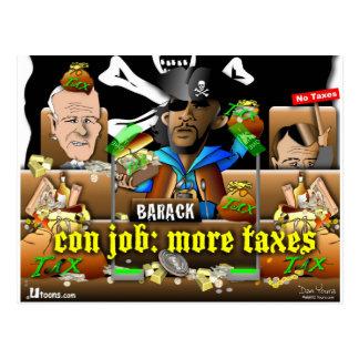 Barack el pirata y el Davy Jones Tarjetas Postales