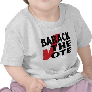 Barack el voto camiseta