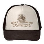 Barack en la silla de montar 2012 gorros bordados