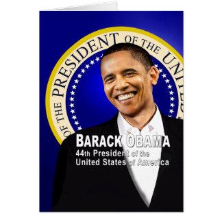 Barack es 44 tarjeta de felicitación