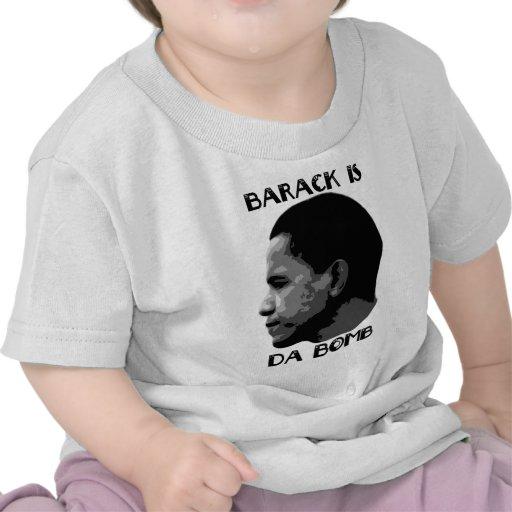 Barack es los niños de la bomba camisetas