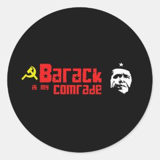 Barack es mi camarada pegatina redonda
