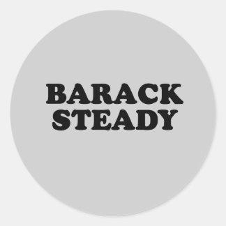 Barack estabiliza la camiseta pegatina redonda