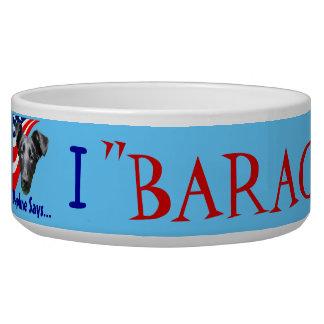 """""""Barack"""" for Obama! Pet Water Bowls"""