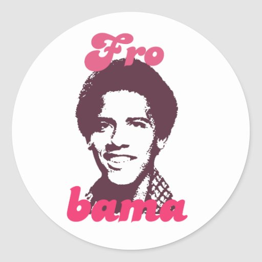 Barack Frobama Round Stickers