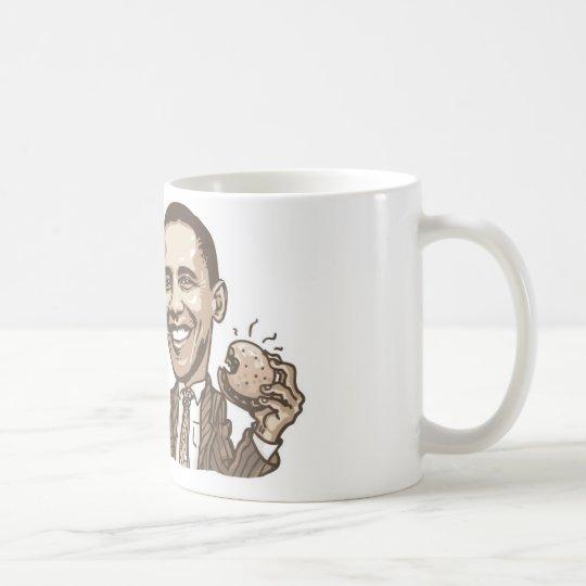 Barack Hamburger Eating  Anti-Obama Gear Coffee Mug