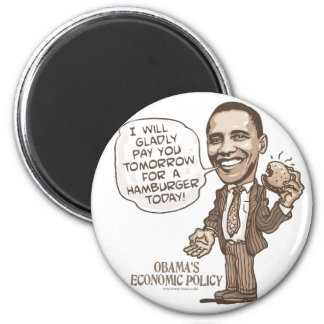 Barack Hamburger Eating  Anti-Obama Gear Magnet
