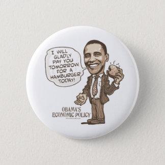 Barack Hamburger Eating  Anti-Obama Gear Pinback Button