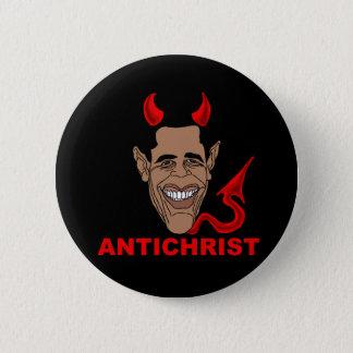 Barack Hussein Obama: AntiChrist Pinback Button