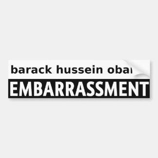 Barack Hussein Obama Pegatina De Parachoque