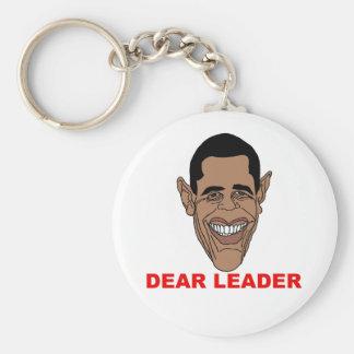 Barack Hussein Obama: Estimado Leader Llavero Redondo Tipo Pin