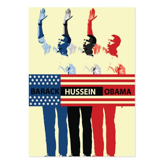 Barack Hussein Obama Gift Tag Large Business Card