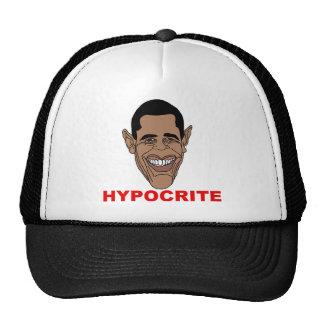 Barack Hussein Obama=Hypocrite Mesh Hat