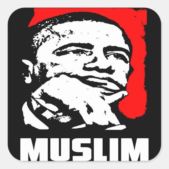 Barack Hussein Obama: Muslim Square Sticker