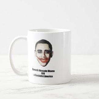 Barack Hussein Obama para una América socialista Tazas De Café