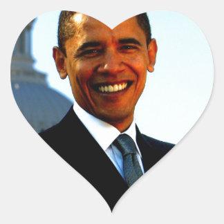barack hussein obama president usa united states heart sticker