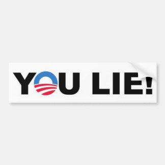 """Barack Hussein Obama """"YOU LIE!"""" bumpersticker Car Bumper Sticker"""