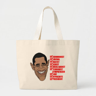 Barack Hussein Obama's List of Qualifications Large Tote Bag