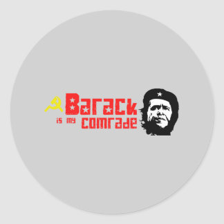 Barack is my Comrade Round Stickers