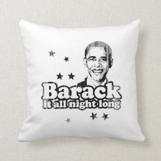Barack it all night Long Faded.png Throw Pillows