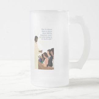Barack Jesus Products Frosted Glass Beer Mug