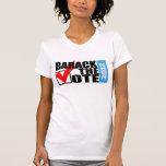 Barack la camiseta de las mujeres originales del v
