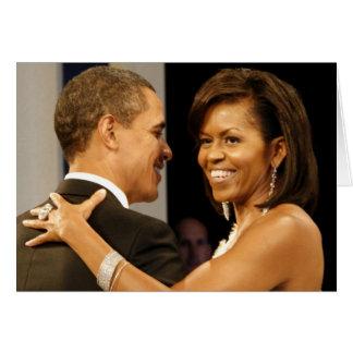 Barack & Michele Obama Card
