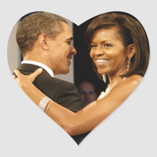 Barack & Michele Obama Heart Sticker
