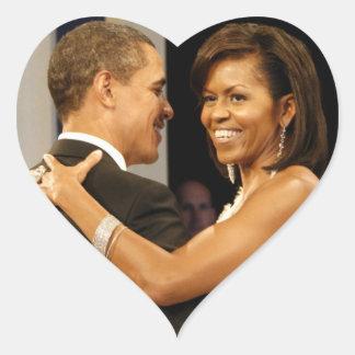 Barack & Michele Obama Heart Sticker
