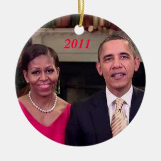 Barack & Michelle 2011 - Ornament